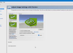 Using Nvidia Control Panel Application